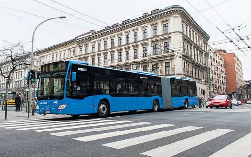 Újabb kilenc Mercedes Citaro autóbusz állt forgalomba Budapesten   kép forrása: BKK, budapest.hu / Nyitrai Dávid