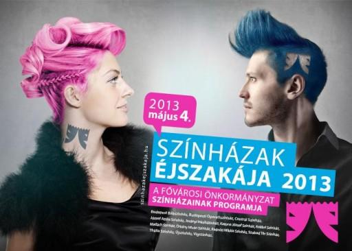 Plakát: színházak éjszakája 2013