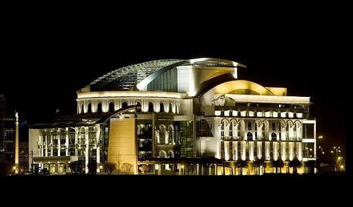 Befejeződött a Nemzeti Színház nagyszínpadi nézőterének átalakítása   kép forrása: MTI