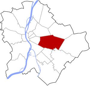 Budapest 10 elhelyezkedése a térképen