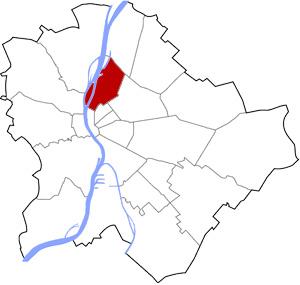 Budapest 13 elhelyezkedése a térképen