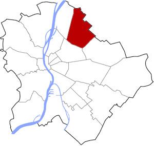 Budapest 15 elhelyezkedése a térképen
