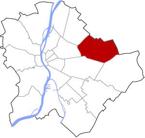 Budapest 16 elhelyezkedése a térképen