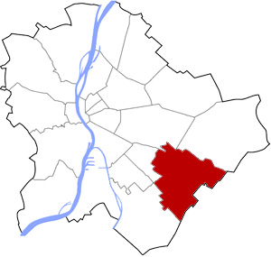 Budapest 18 elhelyezkedése a térképen