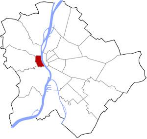 Budapest 1 elhelyezkedése a térképen