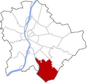 Budapest 23 elhelyezkedése a térképen