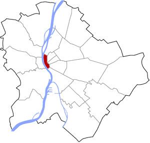 Budapest 5 elhelyezkedése a térképen