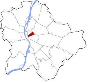 Budapest 7 elhelyezkedése a térképen