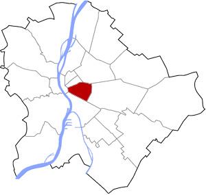 Budapest 8 elhelyezkedése a térképen