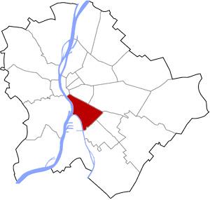 Budapest 9 elhelyezkedése a térképen